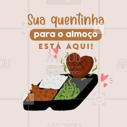 Peça já a sua quentinha e garanta uma refeição saborosa com ingredientes selecionados! #ahazoutaste #quentinha  #comidacaseira #comidadeverdade #marmitex #marmitas