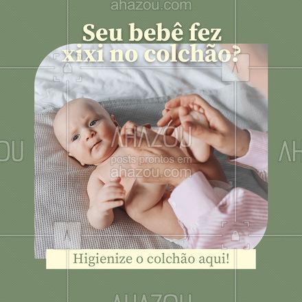 Deixamos o colchão do seu bebê limpinho de novo. Higienize aqui! #AhazouServiços #higienização #orçamento #limpeza #colchãodebebê #saúde