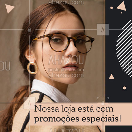 Venha conferir nossas promoções, descontos de [inserir valor dos descontos]% em produtos selecionados. Aproveite! ?️ #AhazouÓticas #otica #oculos #oculosdegrau #oculosdesol #moda #lentes #oculosdamoda #lentesdecontato
