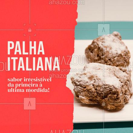 Faça chuva ou faça sol, todo dia é um bom dia para provar a nossa palha italiana! ? #palhaitaliana #confeitaria #ahazoutaste  #doces  #confeitariaartesanal  #docinhos