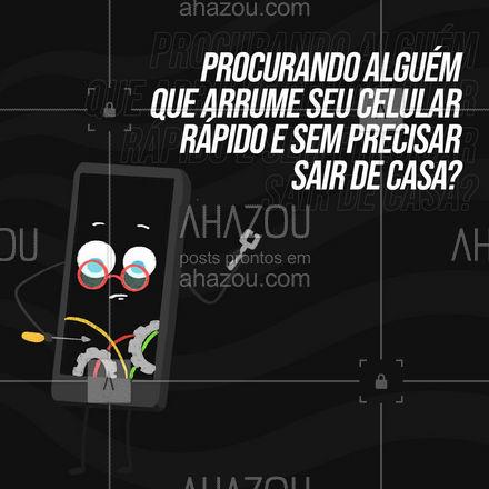 Nós vamos até você! Garantimos que seu reparo seja realizado na hora. Assistência técnica de celulares a domicílio. Entre em contato e agende uma visita. #AhazouTec  #AssistenciaCelular #tecnologia #assistentetecnico #celulares #AssistenciaTecnica #assistencia #AssistenciaTecnica #celular
