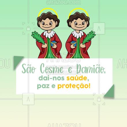 Hoje é dia de São Cosme e Damião e pedimos suas bençãos doces para que nossa vida seja repleta de alegria e saúde! #saocosmeedamiao #ahazou