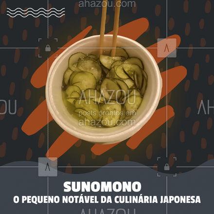 Sunomono é aquela pequena porção que possuí um sabor imenso. ?? #ahazoutaste  #japa #sushidelivery #sushitime #japanesefood #sushilovers #comidajaponesa
