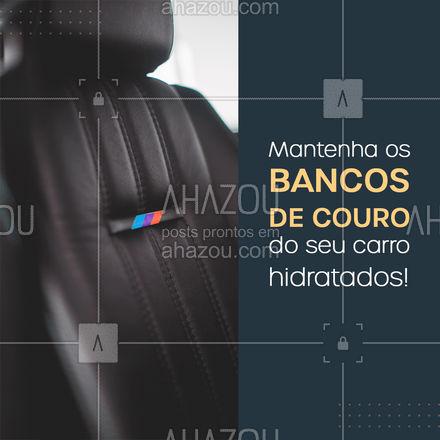 Traga seu veículo para hidratar o couro, manter a boa aparência e conservação! #AhazouAuto #esteticaautomotiva #lavajato #bancodecouro #hidratacao #carro #AhazouAuto
