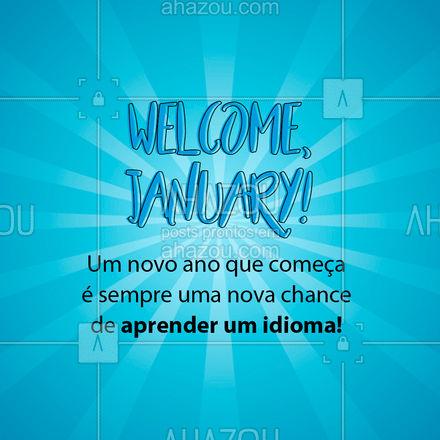 Vamos aproveitar o primeiro mês do ano para começar a falar inglês? ? #janeiro #bemvindojaneiro #AhazouEdu #auladeingles #ingles #idiomas #AhazouEdu