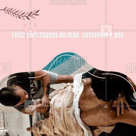 Além disso, essa técnica também ajuda a combater a depressão e a ansiedade. #AhazouSaude #massoterapeuta #relax #massoterapia #quickmassage #massagem #AhazouSaude