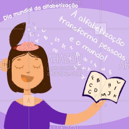 Sempre que puder ensine! 🥰💙  #AhazouEdu #educação #estudo #alfabetizacao #diamundialdaalfabetizacao #motivacional #frase
