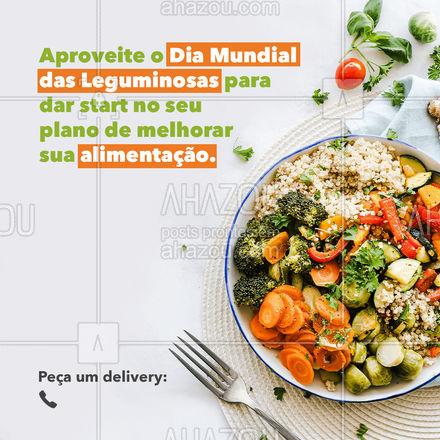 Conheça o nosso cardápio, temos uma ampla variedade de pratos com legumes.? . ?(inserir nome do estabelecimento) ☎️(inserir contato) ?(inserir endereço, se houver) ⏰(inserir horário de funcionamento, se houver) #DiaMundialdasLeguminosas #Legumes #AhazouTaste #AlimentaçãoSaudável #Gastronomia #ahazoutaste