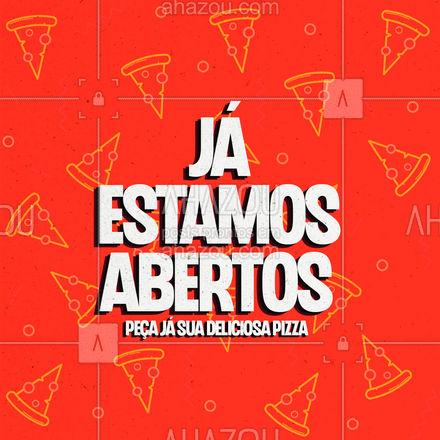 JÁ ESTAMOS ABERTOS! 😍 Aqui temos sabor e qualidade num só lugar! Faça já seu pedido! 💖🍕  #ahazoutaste #pizzaria  #pizza  #pizzalife  #pizzalovers