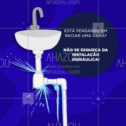 Conte com os serviços de um bom encanador, entre em contato e solicite o seu orçamento! ? #encanador #encanamento #AhazouServiços #instalaçãohidraulica #sistemahidraulico