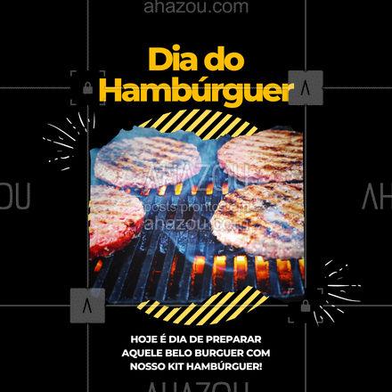 Kit com carne de qualidade, e prontinho pra você fazer aquele belo burguer, pro dia do hambúrguer! Já garanta o seu! ?? #ahazoutaste #hamburguer #burguer #burger #food #comida #diadohamburguer #KitBurger #KitHamburguer #delivery #lanche #ahazoutaste #ahazoutaste