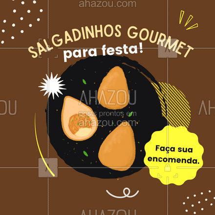 Trabalhamos com opções de salgadinhos gourmet para deixar sua festa ainda mais especial. Solicite o seu orcamento!   #ahazoutaste  #salgados #kitfesta #foodlovers