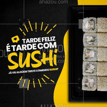 A gente nunca viu! Nem tem como ficar triste comendo uma coisa tão gostosa assim! Já fez o seu pedido!? #ahazoutaste  #japa #sushidelivery #japanesefood #sushitime