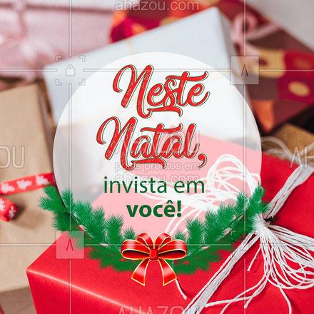 Se presenteie neste Natal e comemore em sua melhor versão! ? #natal #estetica #ahazoubeauty #beauty #beleza