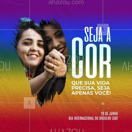 Nesta semana celebraremos o Orgulho LGBT. Hora de reafirmar a liberdade e a felicidade de ser quem somos. Que esse continue sendo nosso principal direito! ?️? #ahazou #motivacionais #frasesmotivacionais #lgbt #dia internacional do orgulho LGBT