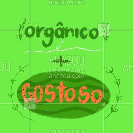 Procurando por um hortifruti com produtos orgânicos? Encontrou o lugar certo! Venha conferir nossos produtos orgânicos! #ahazoutaste