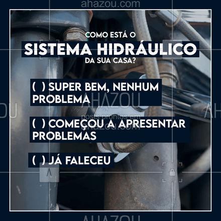 Independente da sua resposta, você pode me chamar. Para prevenir problemas, resolver os poucos que tem ou ressuscitar o seu sistema hidráulico. Entre em contato!💪📲 #encanador #encanamento #encanação #tubulação #enquete #AhazouServiços