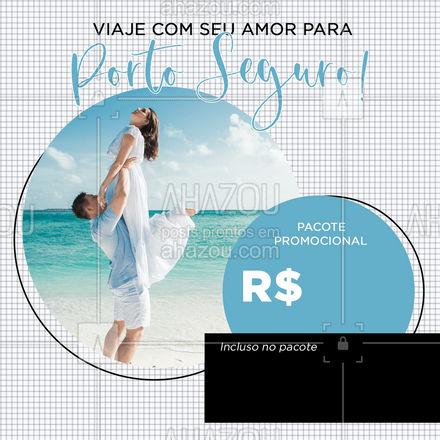 Faça uma viagem romântica para o paraíso de Porto Seguro! Entre em contato: (xx) xxxx-xxxx #AhazouTravel  #agentedeviagens #viagempelobrasil #viajar #trip #viagem #agenciadeviagens #viagens