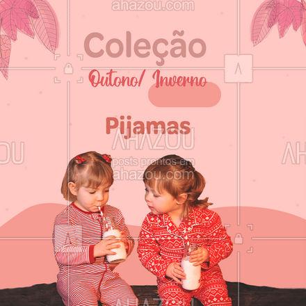 As noites de sono do seu pequeno vão ficar ainda mais gostosas, com essas linhas especiais de pijamas. Venha conferir ❄? #coleção #moda #AhazouFashion #outono #inverno #outonoinverno #pijama