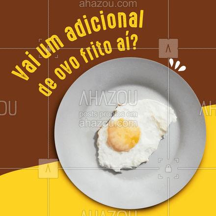 Temos adicional de ovo frito para completar a sua refeição do seu jeito. ?#ahazoutaste  #marmitex #marmitando #comidacaseira #comidadeverdade #marmitas #restaurante #alacarte #foodlovers #ovo #ovofrito #adicional