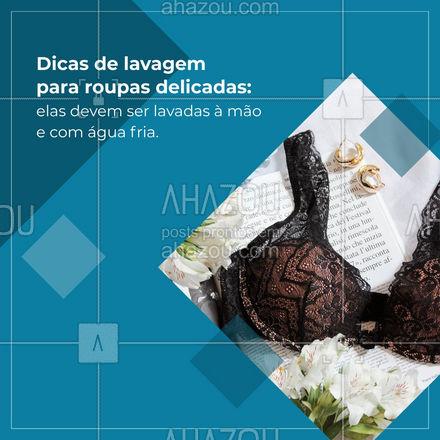Quanto melhor você cuidar das suas peças de roupa, maior durabilidade elas terão. ?? #lavanderia #roupas #dicas #ahazoucasa #roupasdelicadas #maquinadelavar #lavar
