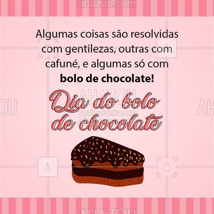 Certas coisas, só um bolo de chocolate consertam! Quem aí também ama um bolinho de chocolate? #ahazoutaste  #bolo #confeitaria