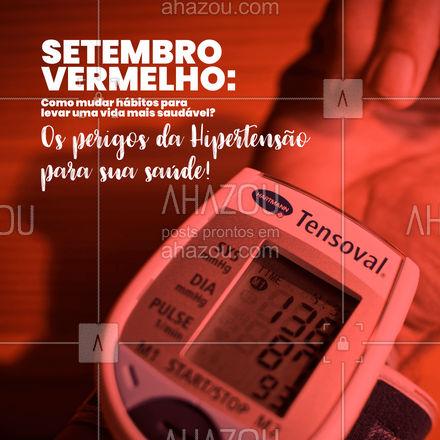 Na hipertensão ocorre o entupimento ou rompimento dos vasos sanguíneos, oferecendo riscos para o coração, vasos sanguíneos, cérebro e rins. No coração, um entupimento ou rompimento de um vaso sanguíneo provoca angina e predisposição para um infarto. Nos rins, um entupimento de um vaso pode provocar a paralisia renal. No cérebro, o entupimento pode gerar um AVC. #AhazouSaude #setembrovermelho #setembro #vidasaudável #viverbem #qualidadedevida #bemestar #cuidese #saude #hipertensão #AhazouSaude