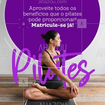 Venha fazer suas aulas de pilates com a gente e aproveite todos os benefícios que proporciona ao seu corpo e mente! Faça já sua matrícula! #pilatesbody #pilates #fitness #AhazouSaude #workout #pilateslovers #auladepilates
