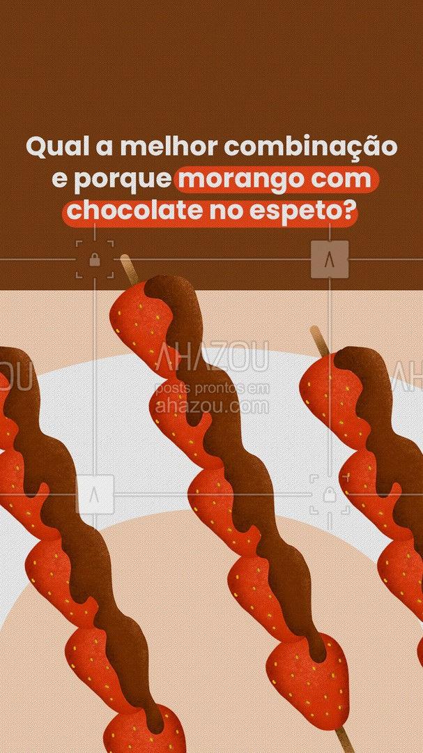 Melhor que essa combinação, só ele estando pertinho de você! 😉 Venha experimentar! 😋 #doces #morango #chocolate #ahazoutaste #morangocomchocolate #doce
