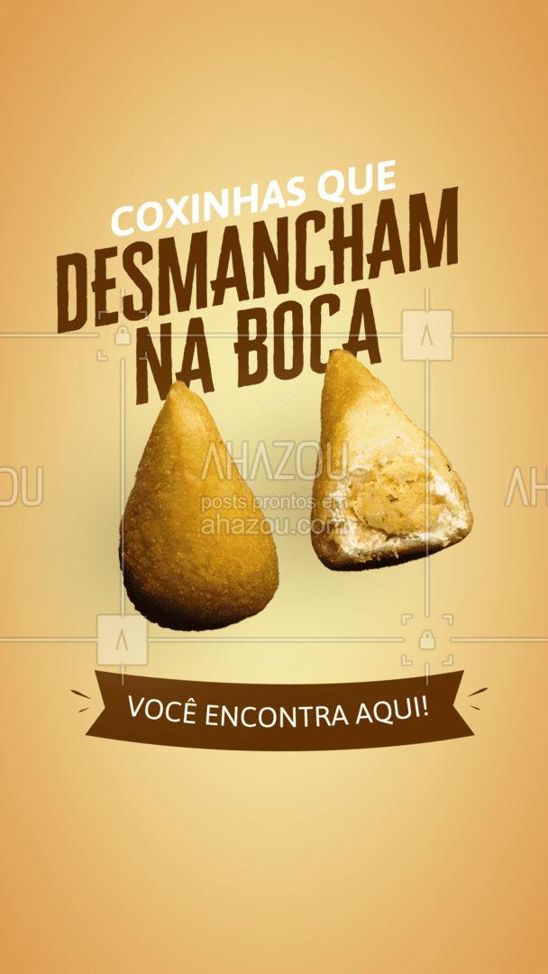 O que você está esperando para pedir as melhores coxinhas da região? 😋 #coxinha #salgados #ahazoutaste #foodlovers  #kitfesta