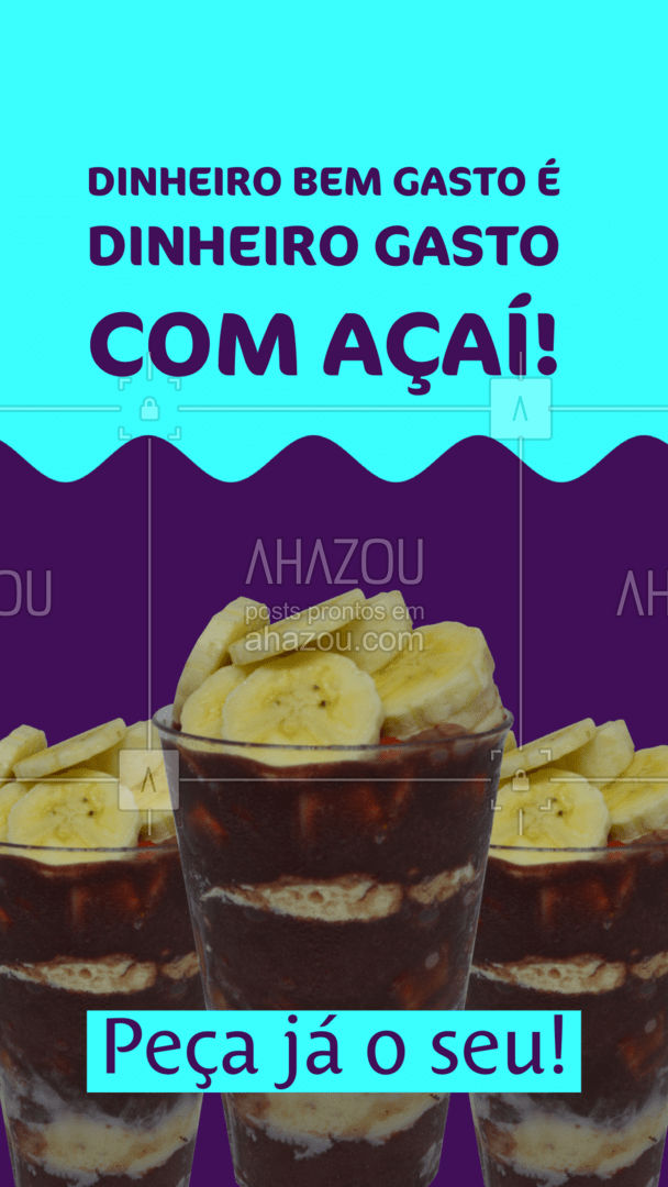 Está esperando o que pra gastar esse dinheiro com açaí! Gastando aqui com a gente você não terá arrependimentos! ? #ahazoutaste #acai  #açaí #açaíteria #icecream #gelados #cremedeacai