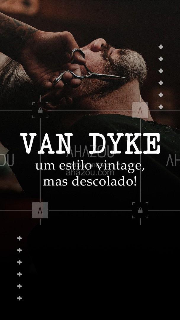 """Se a proposta for deixar o rosto mais """"fino"""", o estilo Van dyke pode ajudar, com uma pegada mais vintage, mas sem deixar de ser descolada. O bigode e cavanhaque separados, ambos com fios mais longos trazem um ar mais estilo para a barba. ??#AhazouBeauty #barbeirosbrasil #barbearia #barba #cuidadoscomabarba #barberShop"""