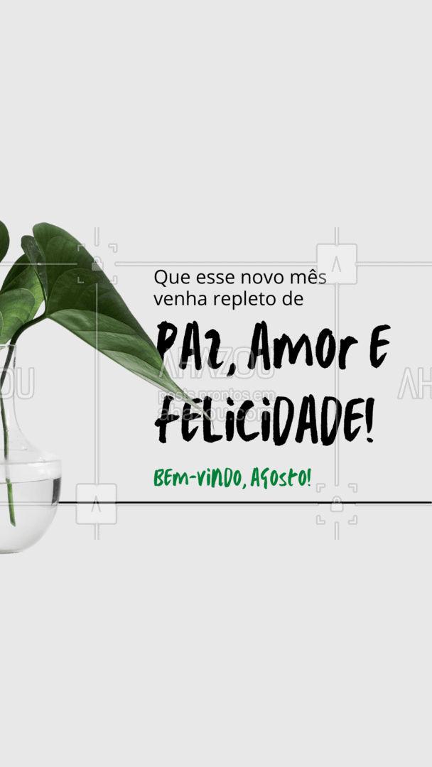 Que esse mês seu lar seja inundado de felicidade e muita coisa boa! #casa #lar #limpeza #AhazouServiços #reparos #conserto #agosto #bemvindoagosto #bemvindo