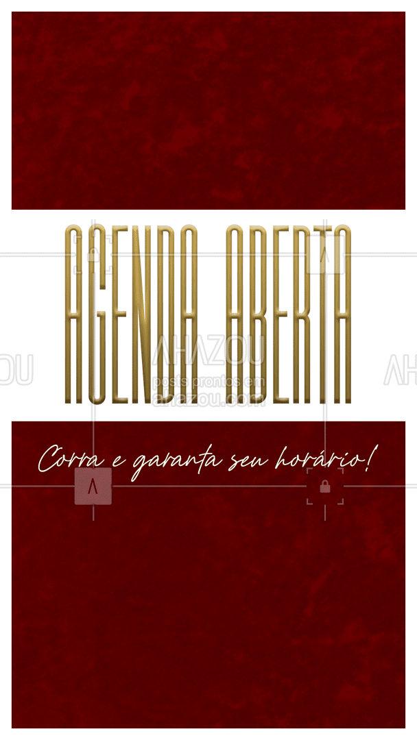 Horários já disponíveis! Garanta agora mesmo o seu (inserir telefone) #agendaaberta #horarios #ahazou #horariodisponivel