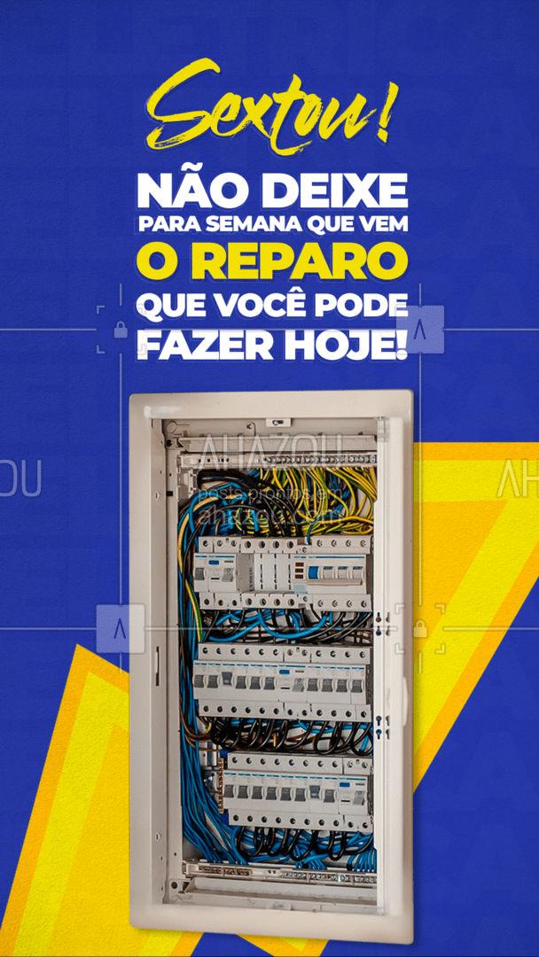 Quer um serviço bem feito e um precinho camarada? Me chama! ? #eletrica #eletricista #AhazouServiços #eletricidade #serviços #AhazouServiços