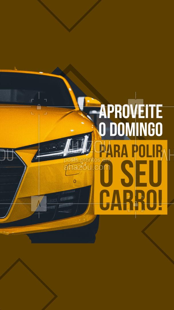 Domingo é dia de deixar tudo preparado para a semana! Aproveite para trazer o seu carro para polir e deixar ele perfeito para a sua semana. #esteticaautomotiva #eletricaautomotiva #mecanicaautomotiva #carros #AhazouAuto #automotivo #lavajato #automotiva #mecanica