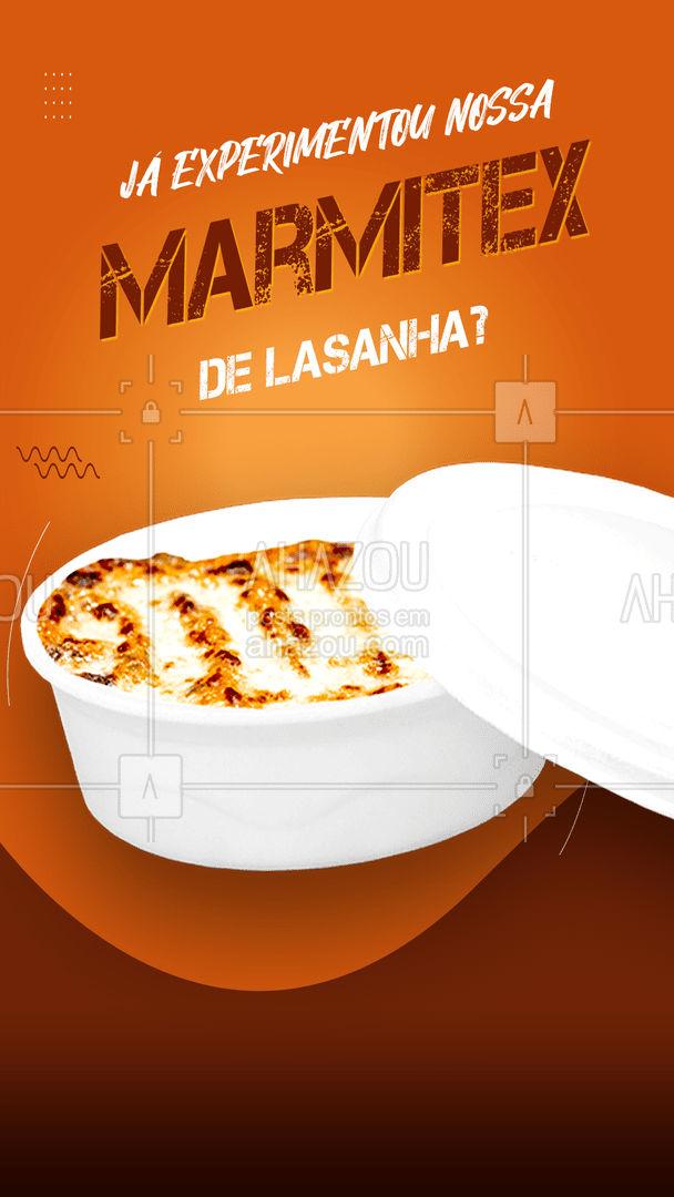 Só quem já comeu sabe como é boa a nossa marmitex recheada de lasanha, com massa e molho fresquinhos! Virou uma das nossas queridinhas por aqui 😋 #ahazoutaste #lasanha #marmita #marmitex #refeição #almoço #experimentar