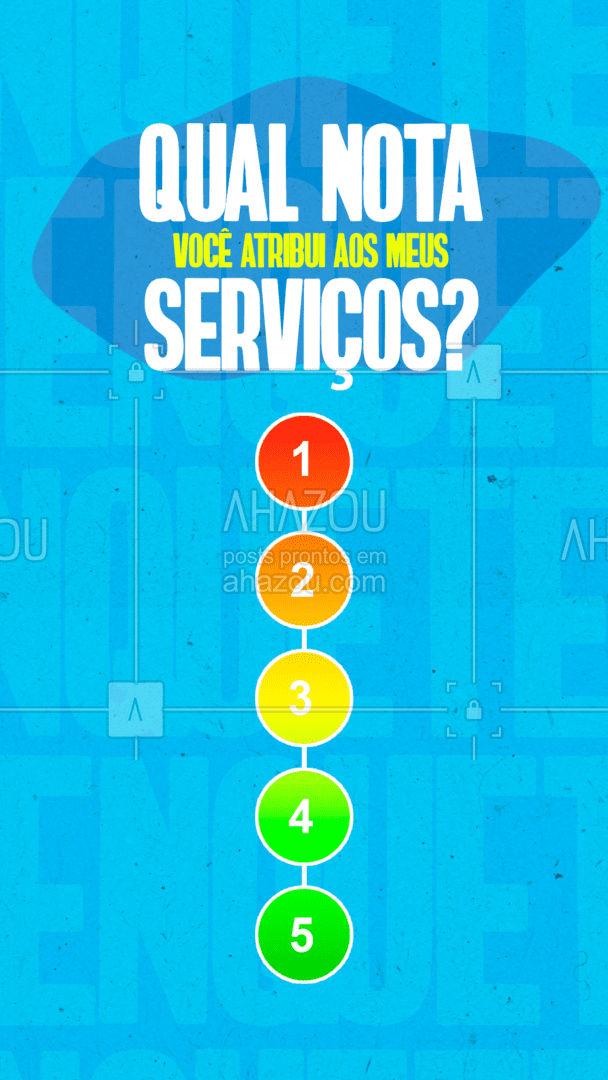 Mas tem que ser sincero, viu? Só assim posso melhorar o meu trabalho! ?? #avaliação #feedback #AhazouServiços #serviços #serviçospracasa #AhazouServiços