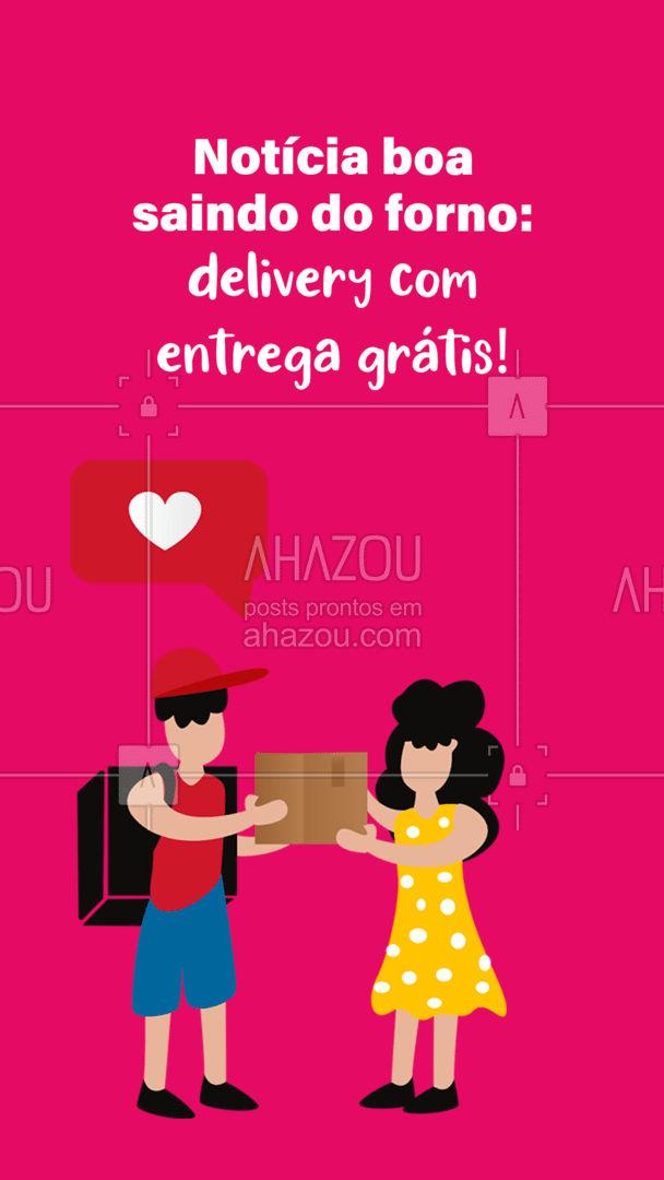 Notícia boa assim, só aqui! Aproveite! #ahazoutaste #gastronomy #gastronomia #culinaria #entregrátis #deliverygrátis #delivery #entrega