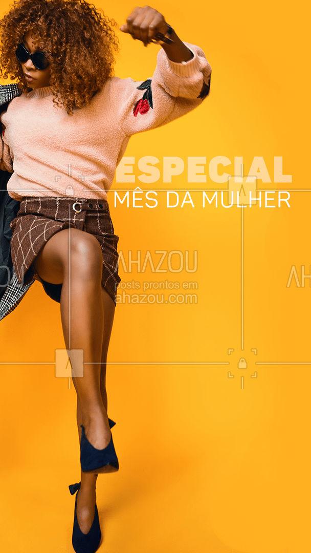 Que tal poder montar um look completo por apenas R$ (valor) para celebrar o Mês da Mulher?❤️️  #AhazouFashion #ModaFeminina #MêsdaMulher #Mulher #Moda