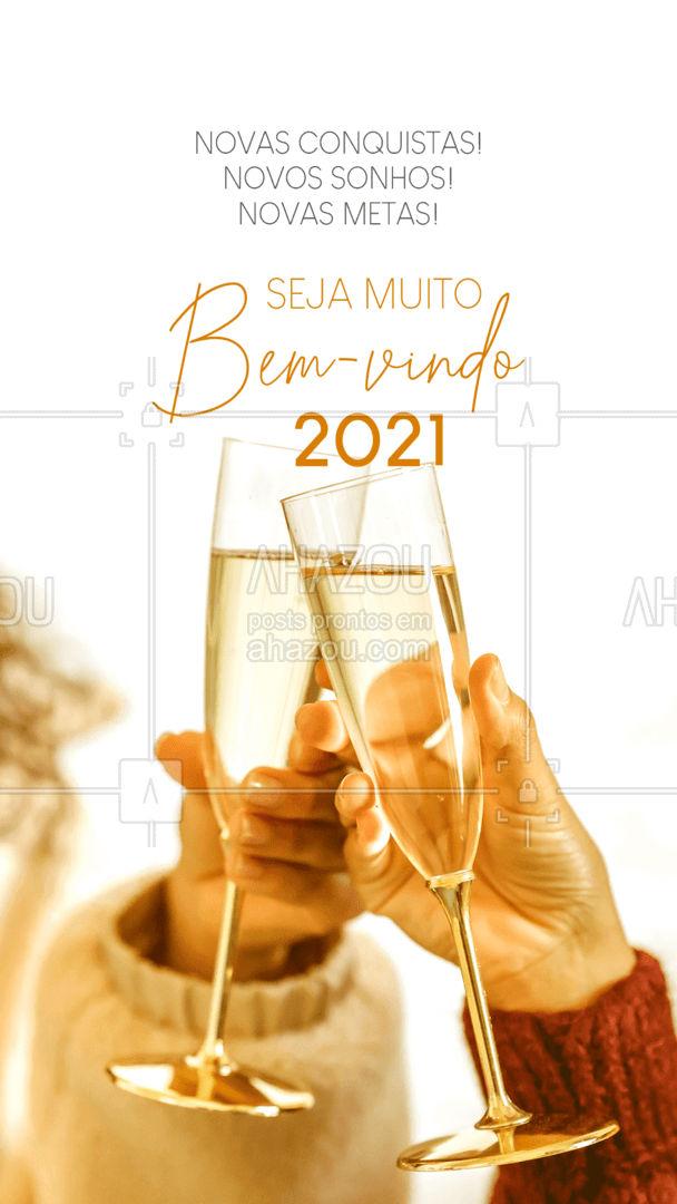 Que seja um novo ano cheio de novas conquistas, sonhos e metas para que você possa ter um ano magnífico! Bem-vindo 2021✨?✨ #AnoNovo #Consquistas #ahazou #Sonhos #NovoAno