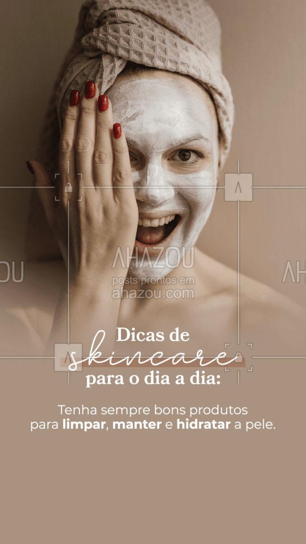 Produtos que te ajudam a manter a pele limpa e hidratada são um sucesso. Por isso, tenha sempre um sabonete facial para fazer a higienização e remover as impurezas da pele. Lencinhos umedecidos são ótimos para os dias mais corridos, pois ajudam a remover as sujeiras da maquiagem sem que você precise enxaguar a pele. A água micelar, remove delicadamente as impurezas, deixa a pele limpa, refrescada e hidratada. 💁♀️ #AhazouBeauty #bemestar #limpezadepele #beleza #skincare #dicasdeskincare