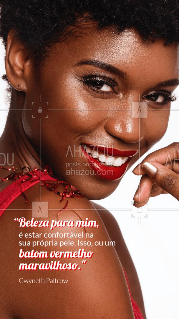 Sua beleza natural é incrível, mas se você quiser se sentir mais poderosa ainda se joga no batom vermelho! #mua #makeup #muabrazil #AhazouBeauty #maquiagem #maquiadora #makeoftheday #frase #motivacional