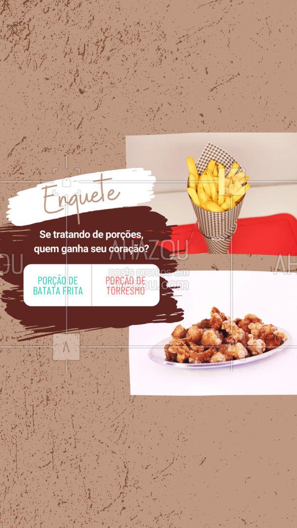 Vote na nossa enquete! Qual das duas porções é a sua favorita e tem um espaço reservado no seu coração? Queremos saber! #ahazoutaste #enquete  #pub #bar #porcao