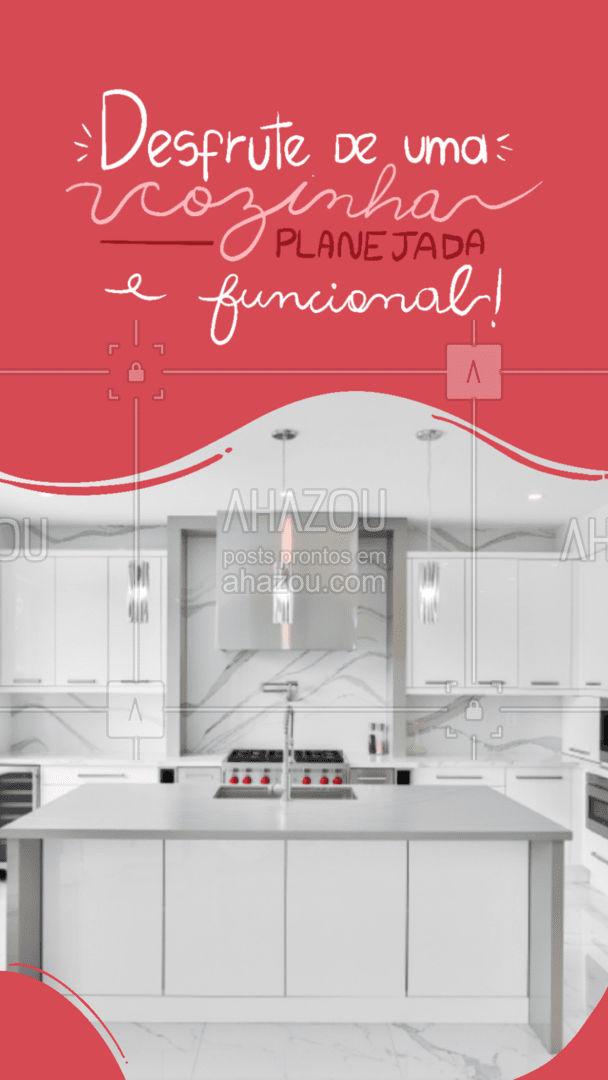 Planejamos sua cozinha pensando na funcionalidade e praticidade do dia a dia, sem abrir mão da beleza! Entre em contato e vamos conversar! #AhazouPlanejados #moveisplanejados  #casaplanejada  #moveissobmedida  #cozinhaplanejada