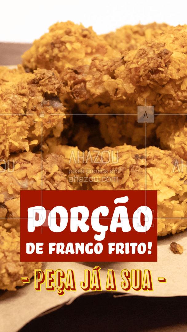 Peça sua porção de frango frito! Crocante e temperadinho, do jeito que você ama!  #ahazoutaste #frangofrito #porcao  #bar #eat #instafood