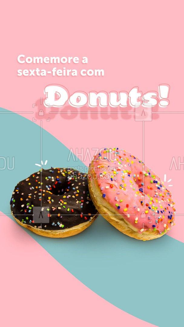 Até que uns donuts pra sextar não seria má ideia, né? Peça os seus! ❤️?  #ahazoutaste  #confeitaria #confeitariaartesanal #donuts