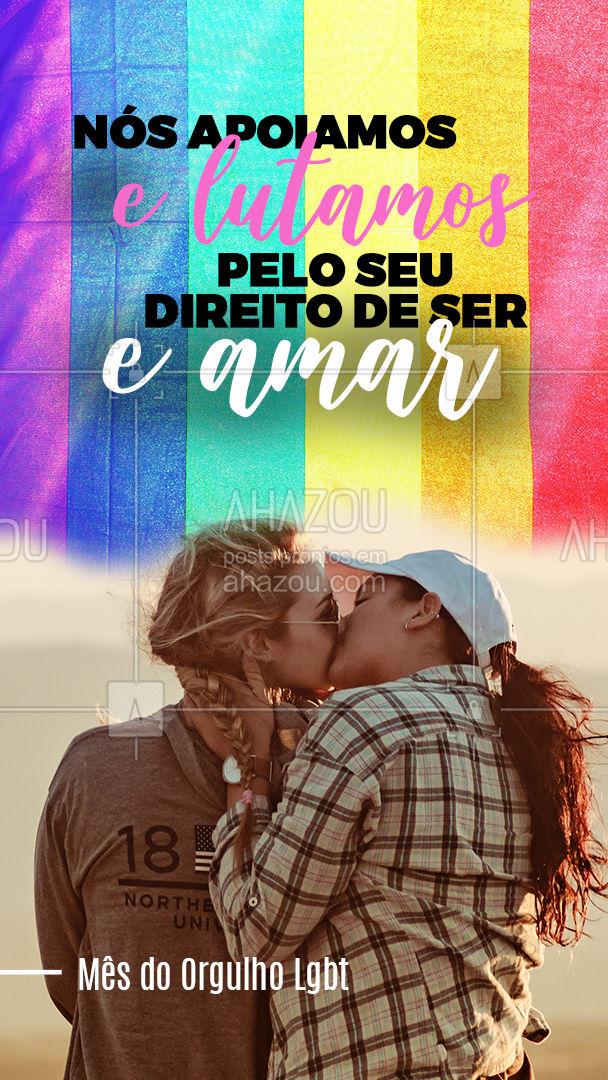Temos orgulho em te dizer que você não está sozinho nessa luta! ?#loveislove #pridemonth #ahazou #pride #lgbtpride #frase #quote