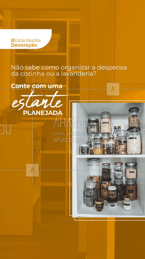 As separações da estante são ideais para organizar seus itens, sendo possível, inclusive, segmentar conforme a utilidade de cada objeto!  #estantes #decoração #homedecor #AhazouDecora #AhazouArquitetura  #arquitetura