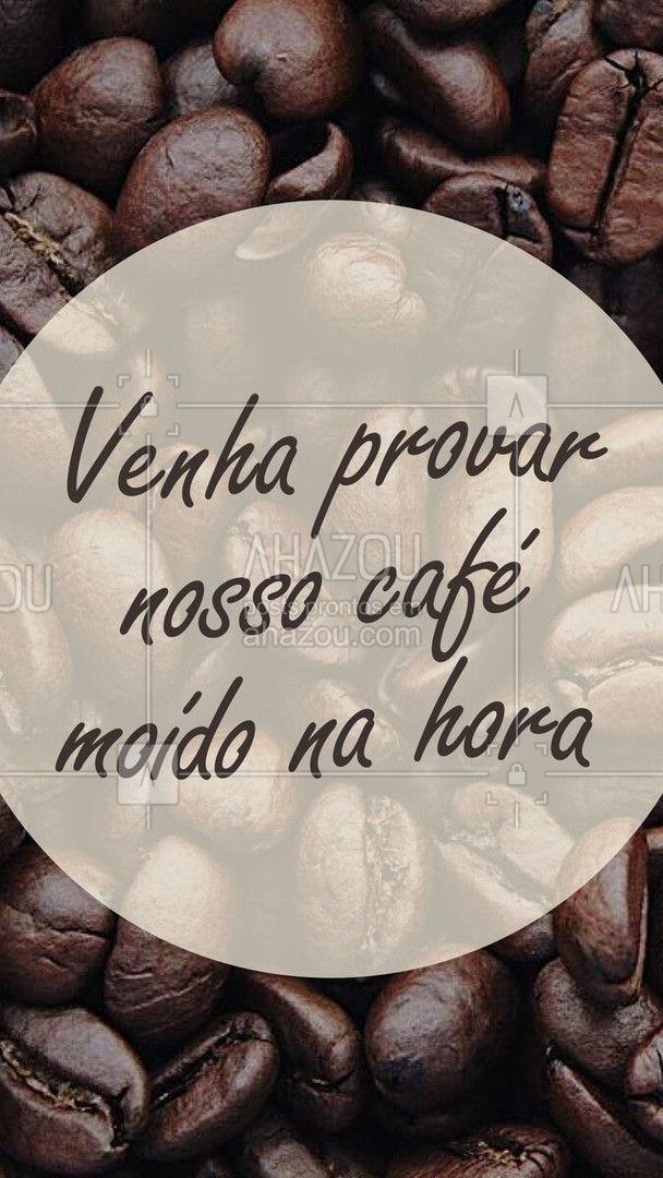 Cafézinho moído na hora é aqui mesmo! O sabor do grão direto na sua xícara ? #ahazoutaste #café #coffee #barista #cafépreto #grão #moido #ahazoutaste  #editaveisahz